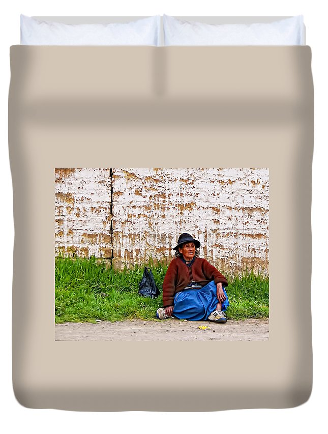 Woman Duvet Cover featuring the photograph Such A Long Journey II by Steve Harrington