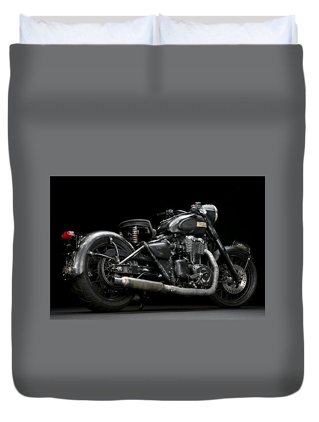 Triumph Duvet Cover featuring the photograph Suckerpunch Sally by Keith May