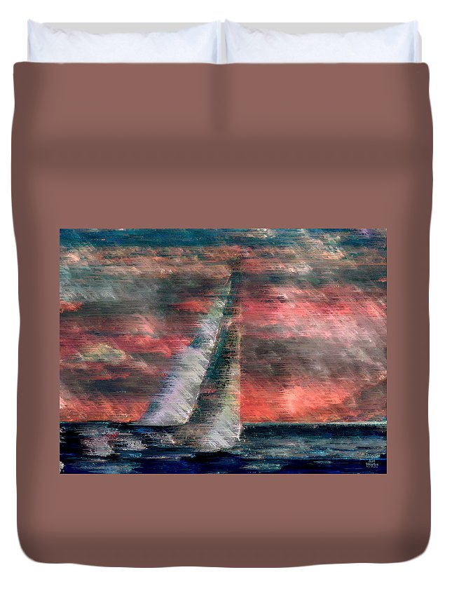 Ebsq Duvet Cover featuring the photograph Sudden Squall by Dee Flouton