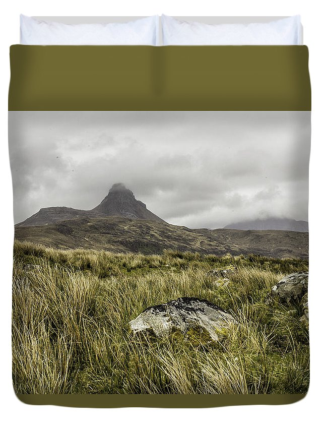 Suilven Duvet Cover featuring the photograph Suilven Mountain by Fran Gallogly