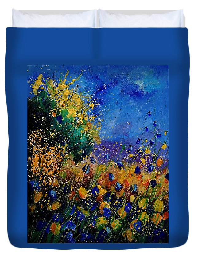 Poppy Duvet Cover featuring the painting Summer 459090 by Pol Ledent