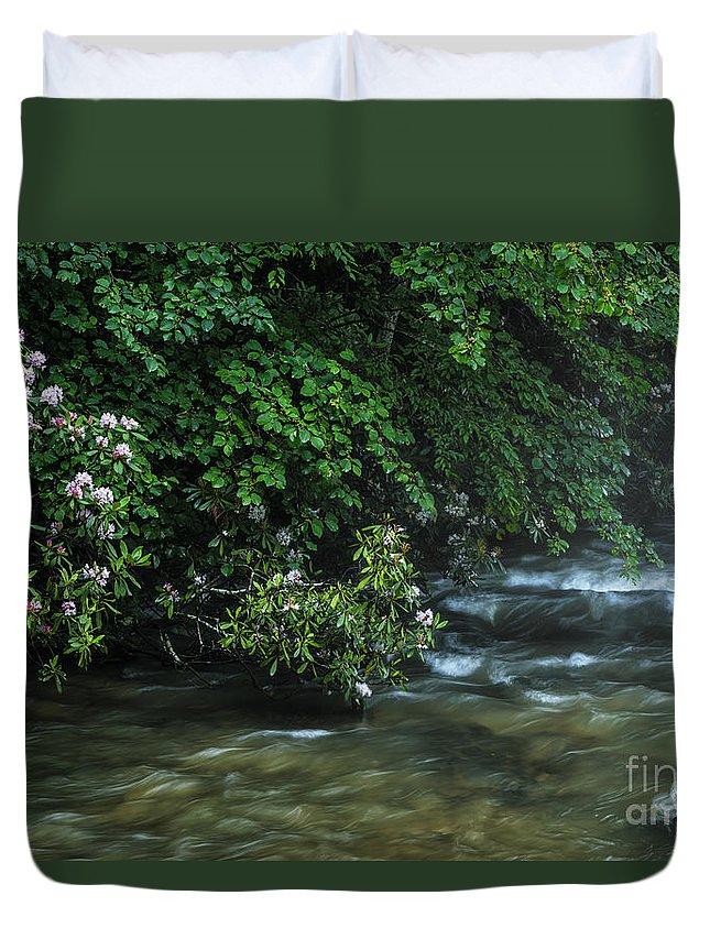 Summer Duvet Cover featuring the photograph Summer Along Birch River by Thomas R Fletcher