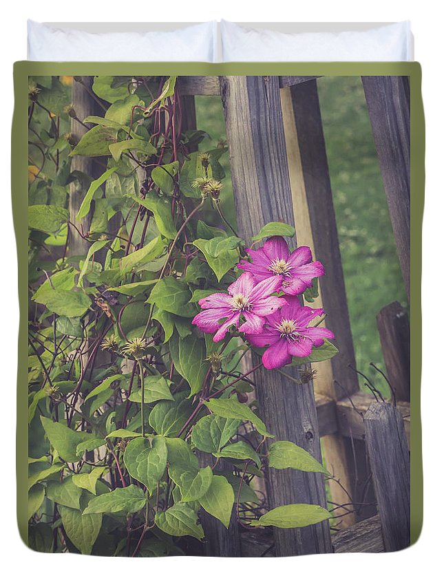 Flower Duvet Cover featuring the photograph Summer Color by Debbie Gracy