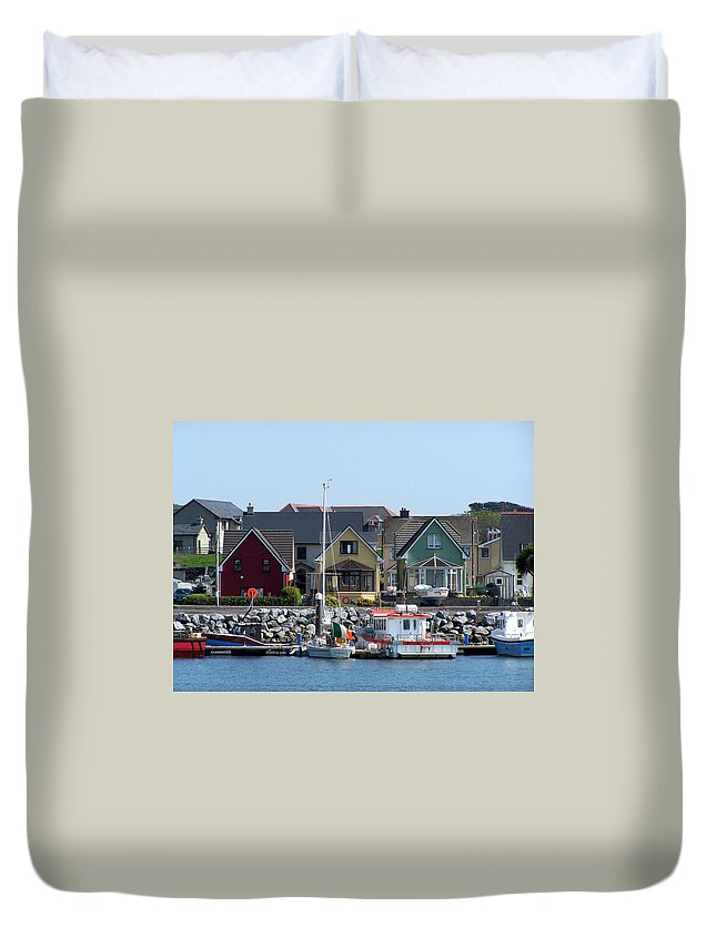 Irish Duvet Cover featuring the photograph Summer Cottages Dingle Ireland by Teresa Mucha