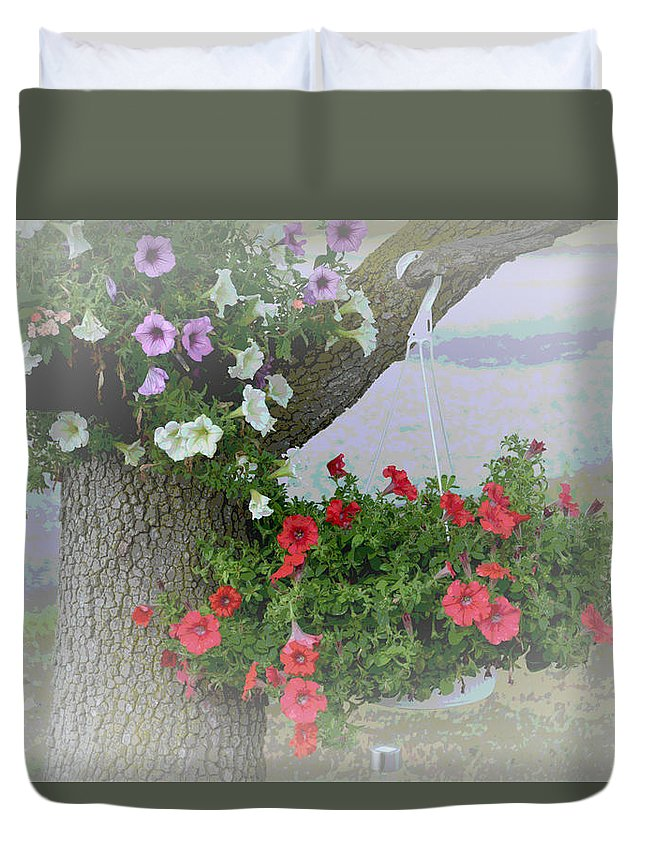 Rose Duvet Cover featuring the photograph Summer Day by Paul Gavin