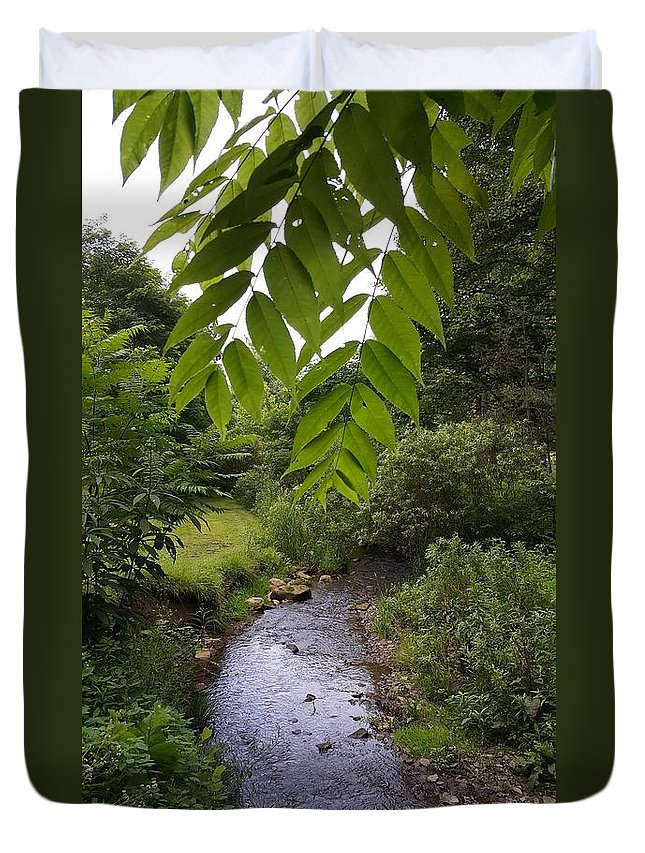 River Duvet Cover featuring the photograph Summer Days by Yazid Ismail