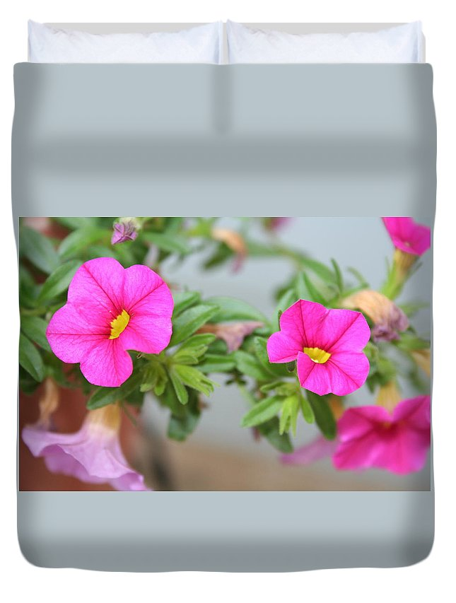 Flowers Duvet Cover featuring the photograph Summer Flowers by Linda Sannuti