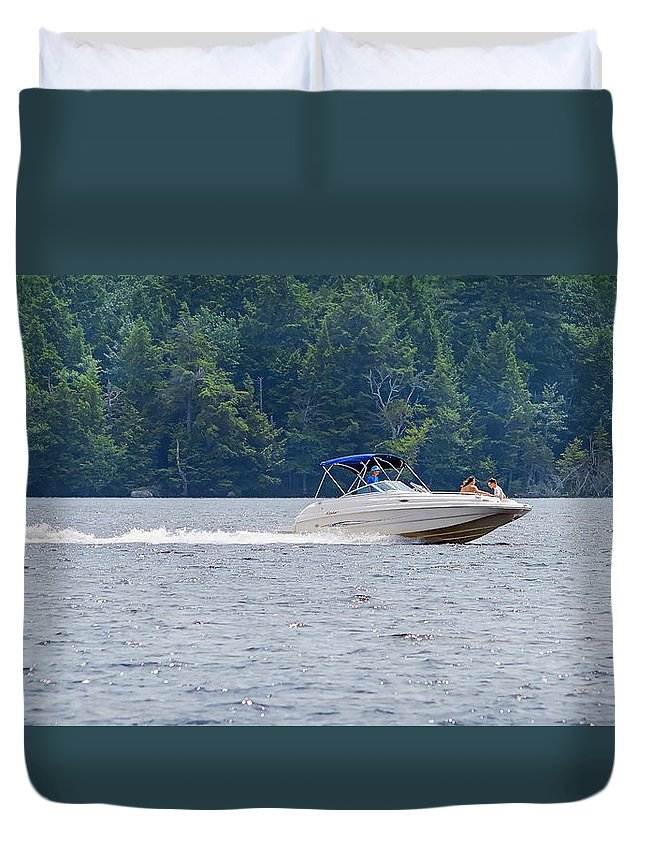 Water Ski Duvet Cover featuring the photograph Summer Fun by Keith Armstrong