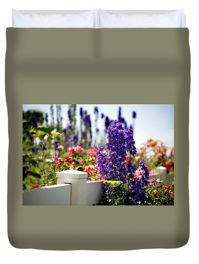 Summer Duvet Cover featuring the photograph Summer Garden 1 by Marilyn Hunt