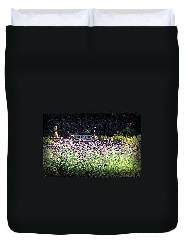 Nature Duvet Cover featuring the photograph Summer Garden II by Lauren Radke