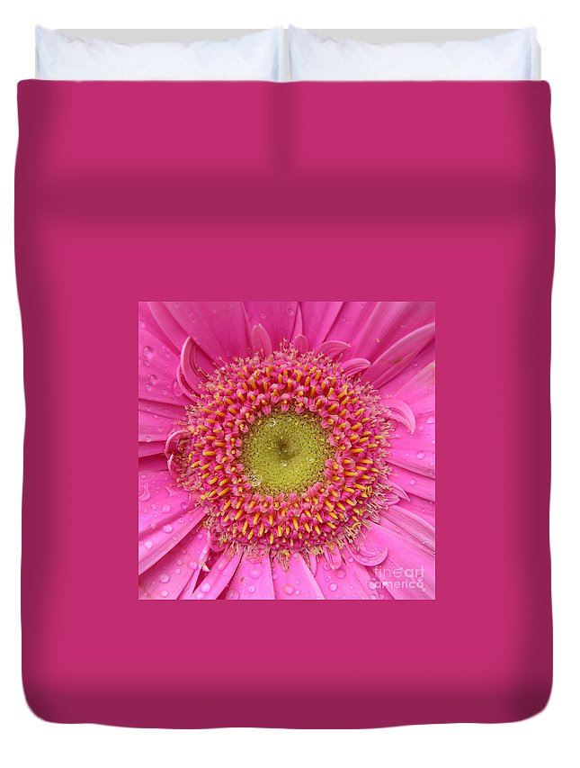 Pink Flower Duvet Cover featuring the photograph Summer Glory by Carol Groenen