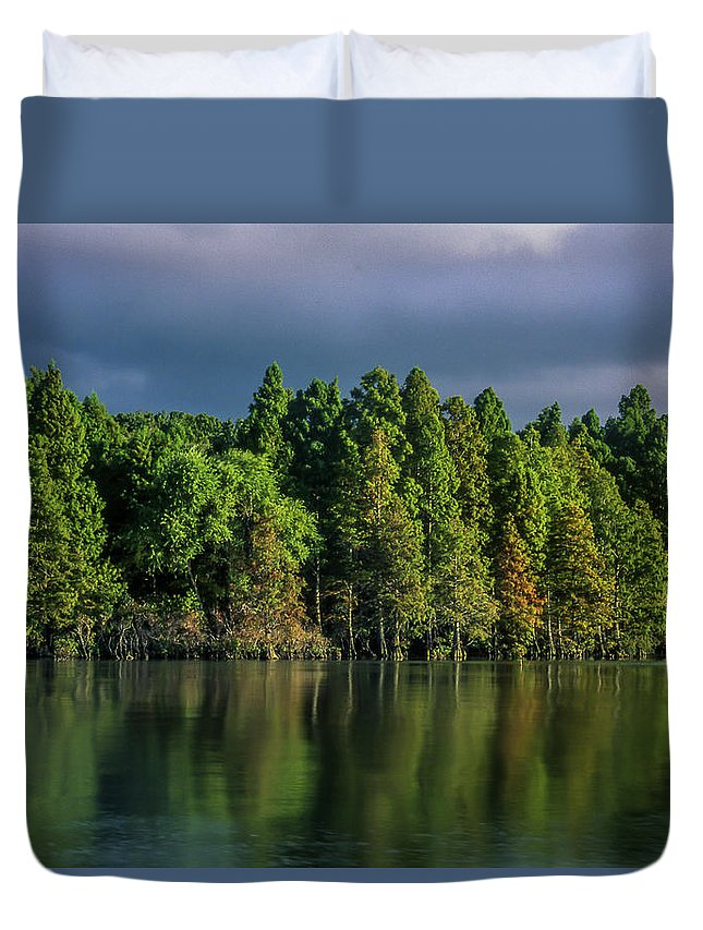 Phelps Lake Duvet Cover featuring the photograph Summer Highlights by Jeffrey Brannan