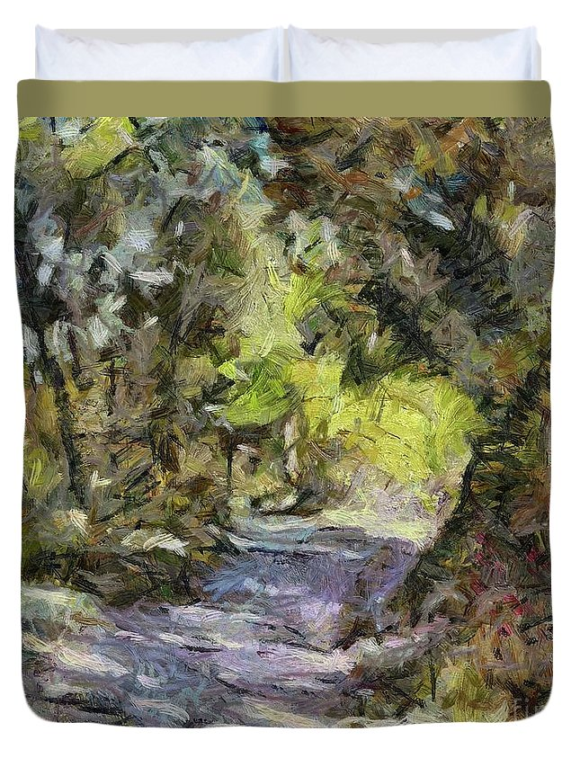 Summer Duvet Cover featuring the painting Summer Idyll by Dragica Micki Fortuna