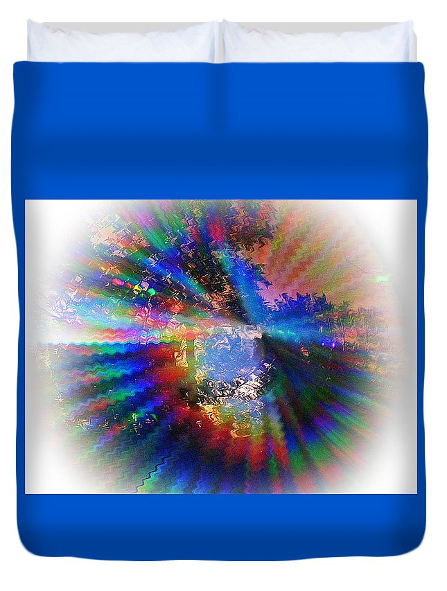 Abstract Duvet Cover featuring the photograph Summer Light by Concolleen's Visions Smith