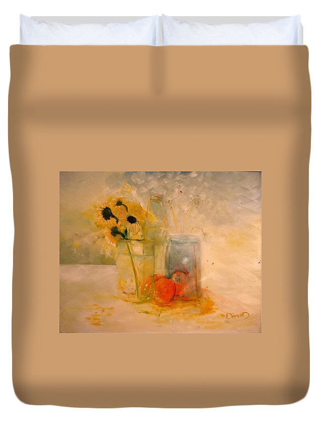 Daisey Duvet Cover featuring the painting Summer Light by Jack Diamond