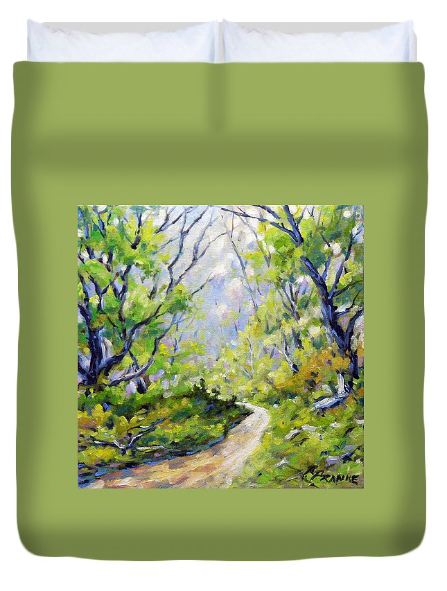 Art Duvet Cover featuring the painting Summer Lights by Richard T Pranke