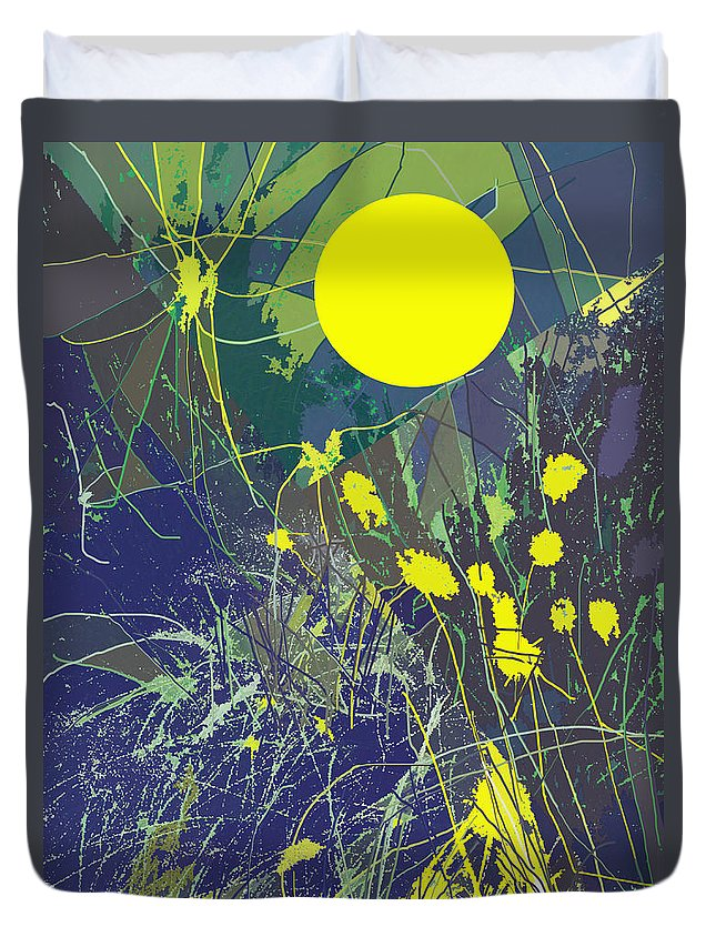 Abstract Duvet Cover featuring the digital art Summer Memories by Ian MacDonald