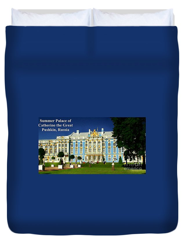 Summer Palace Duvet Cover featuring the photograph Summer Palace Of Catherine The Great by James Carr