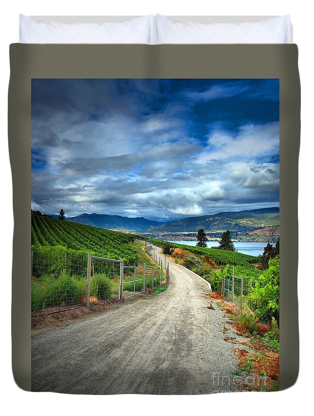 Road Duvet Cover featuring the photograph Summer Passages by Tara Turner
