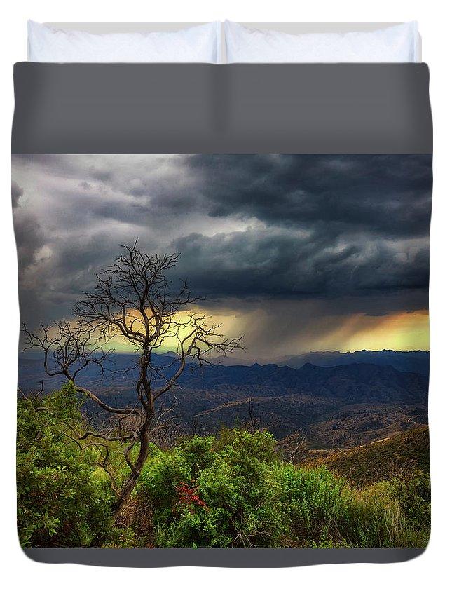 Arizona Duvet Cover featuring the photograph Summer Rains by Rick Furmanek