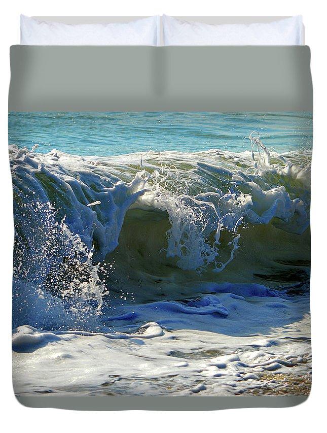 Ocean Duvet Cover featuring the photograph Summer Splash by Dianne Cowen