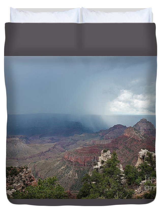 Dave Welling Duvet Cover featuring the photograph Summer Storm North Rim Grand Canyon National Park Arizona by Dave Welling