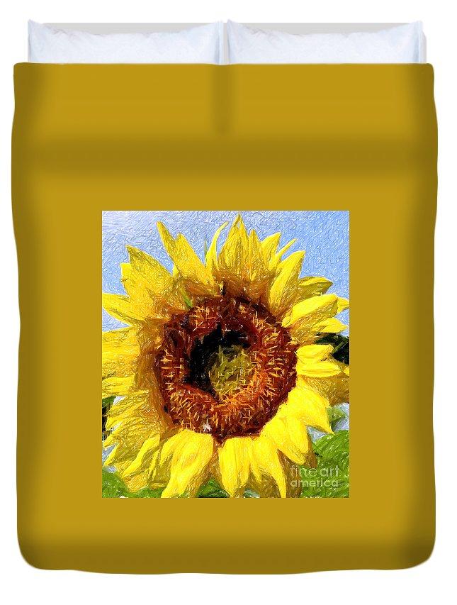 Sunflower Duvet Cover featuring the photograph Summer Sunflower by Kathleen Struckle