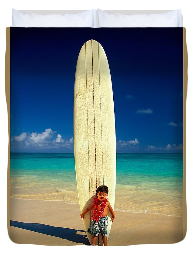 Asian Duvet Cover featuring the photograph Summer Vacation by Dana Edmunds - Printscapes