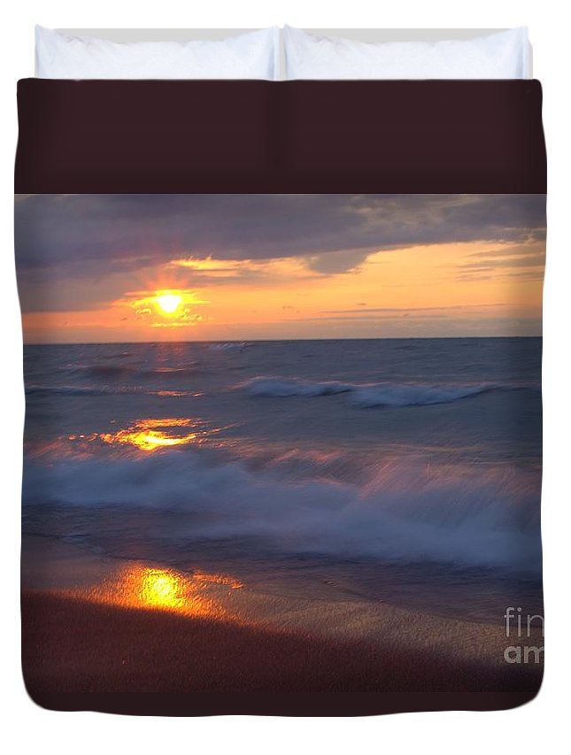 Grand Bend Duvet Cover featuring the photograph Summers Breath 4 by John Scatcherd