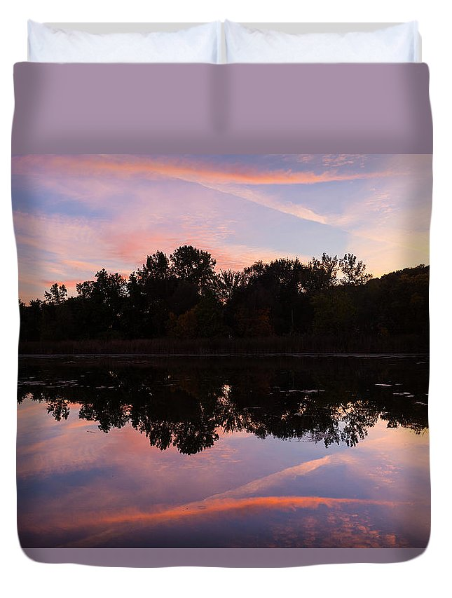 Summit Lake Duvet Cover featuring the photograph Summit Lake Sunset I by Tim Fitzwater
