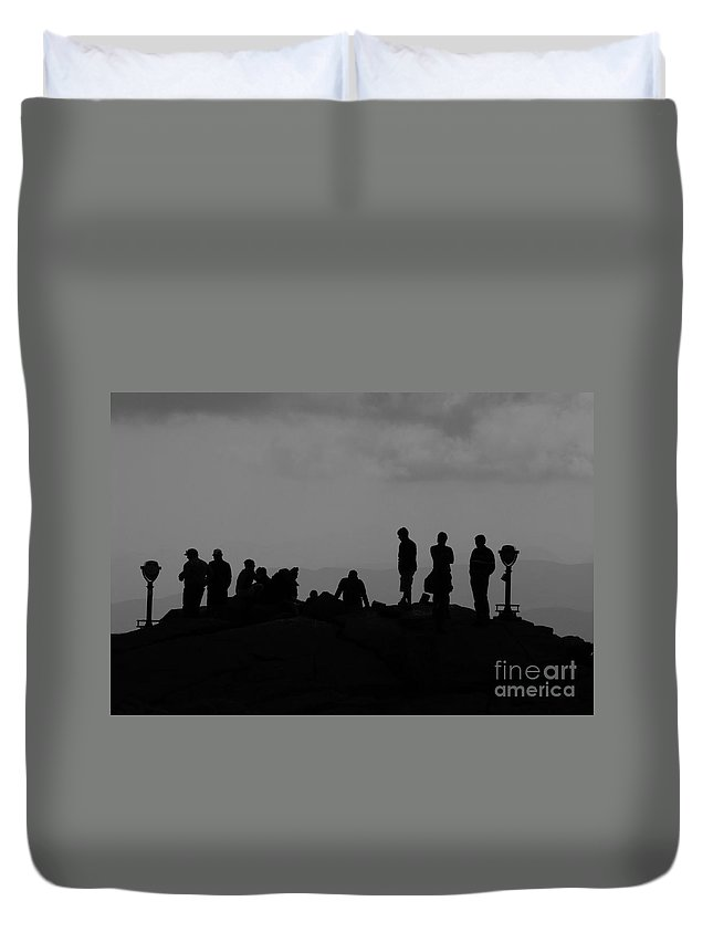 Summit Duvet Cover featuring the photograph Summit People by David Lee Thompson
