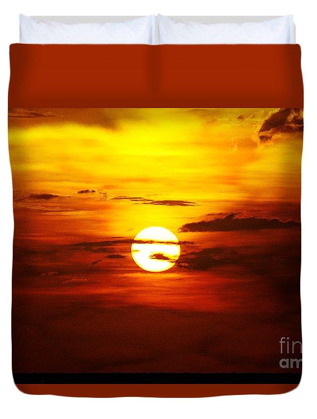 Sun Duvet Cover featuring the photograph Sun 32 by Ben Yassa
