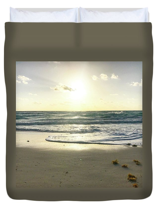 Sand Duvet Cover featuring the photograph Sun And Sand by Brittany Nicotra