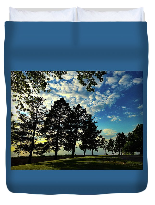 #sun And Shadow Duvet Cover featuring the photograph Sun And Shadow By Earl's Photography by Earl Eells a