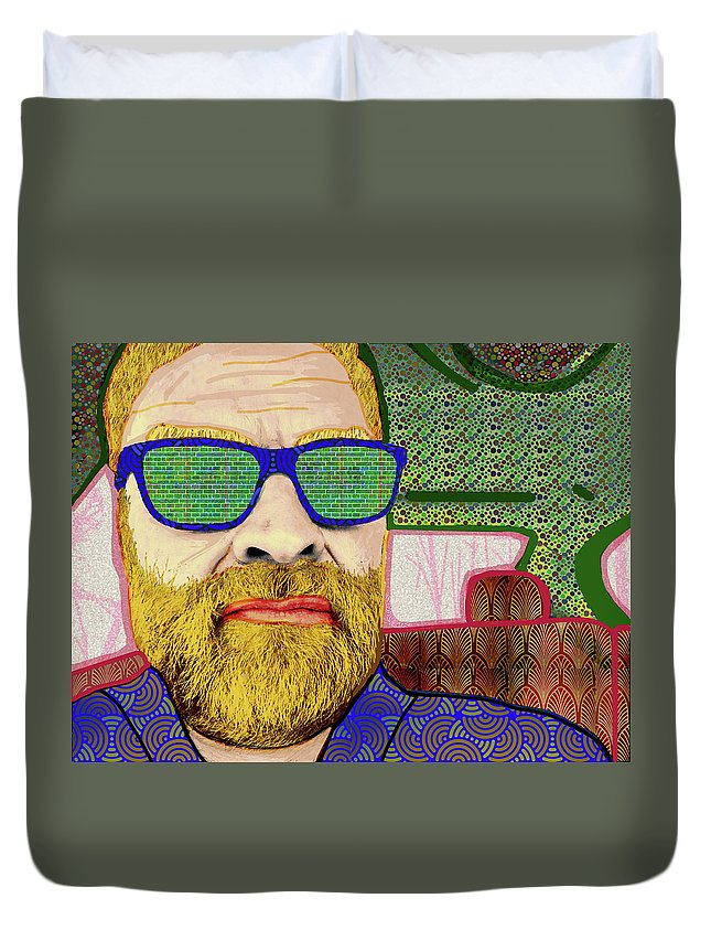 Patterns Duvet Cover featuring the digital art Sun Glasses by Rod Whyte