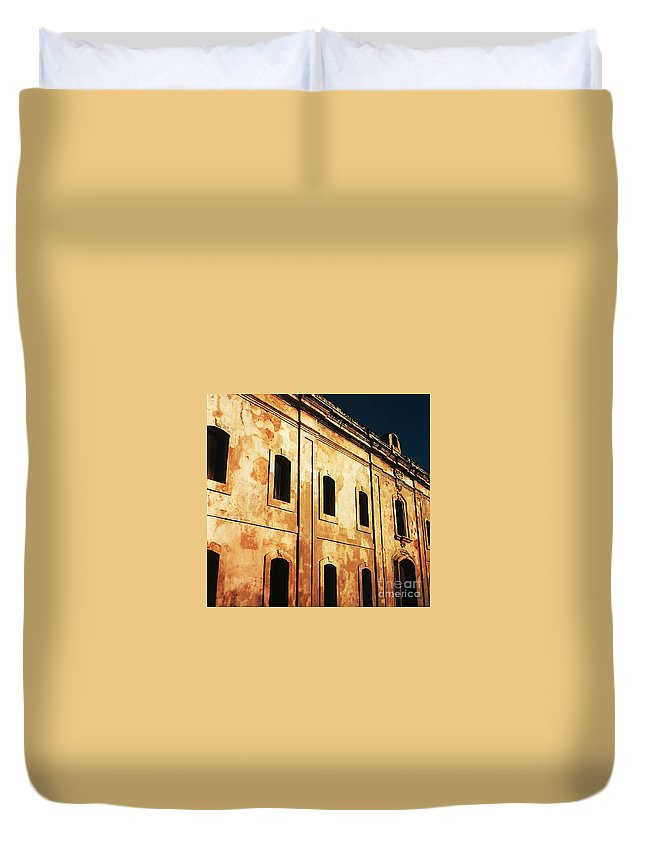 Buildings Duvet Cover featuring the photograph Sun Kissed by Jeff Barrett