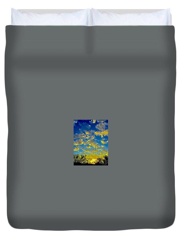 Duvet Cover featuring the photograph Sun Kisses by Joy Elizabeth