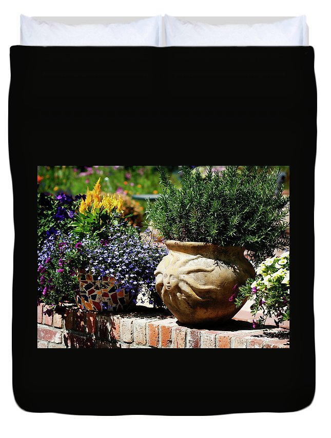 Sun Duvet Cover featuring the photograph Sun Pot by Marilyn Hunt