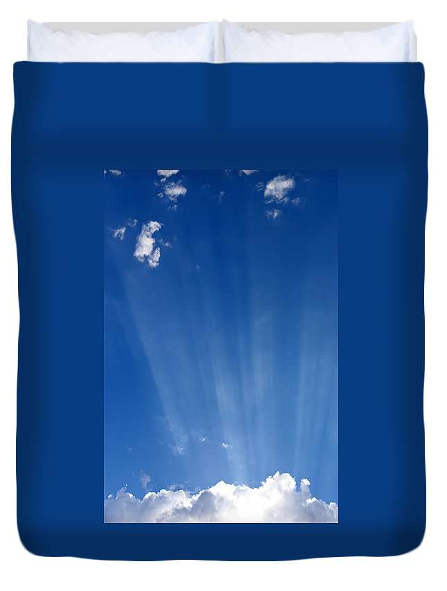 Sun Ray Duvet Cover featuring the photograph Sun Ray's by Scott Sawyer