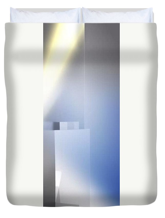 Sun Rises Duvet Cover featuring the digital art Sun Rises by Archangelus Gallery