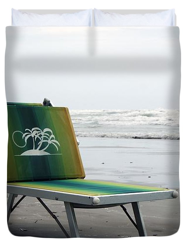 Sunbed Duvet Cover featuring the photograph Sunbed by LDS Dya