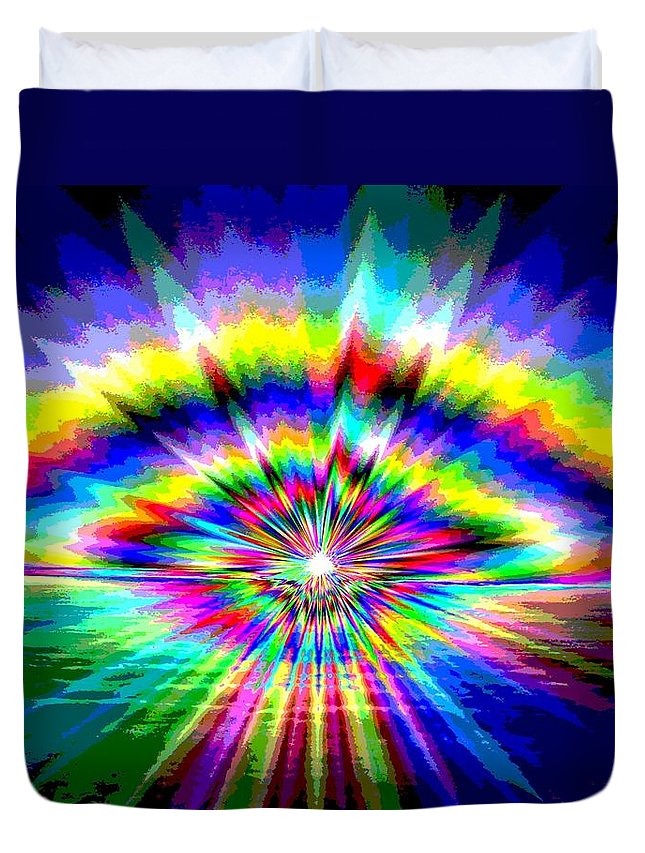 Sun Duvet Cover featuring the photograph Sunburst by Tim Allen
