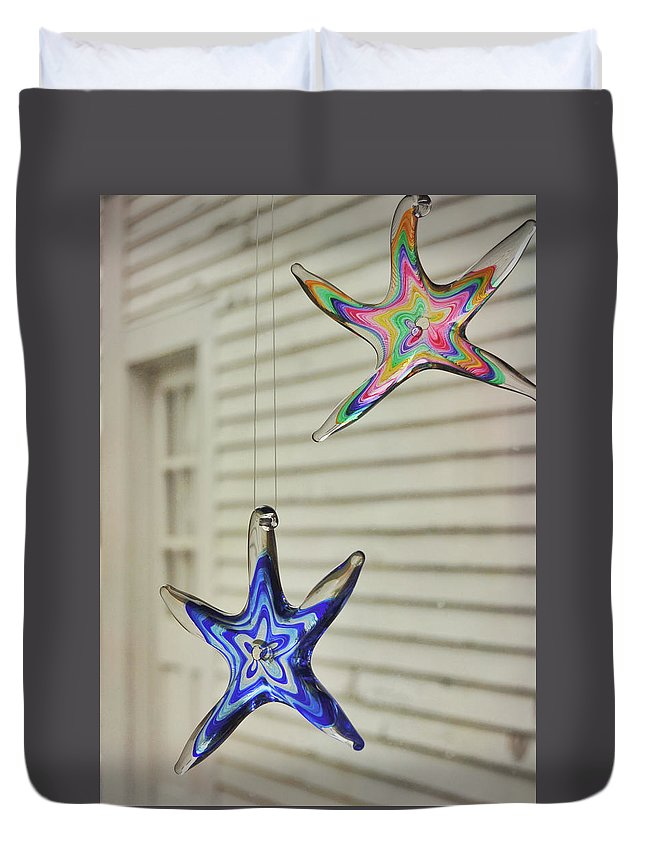 Star Duvet Cover featuring the photograph Suncatchers by JAMART Photography