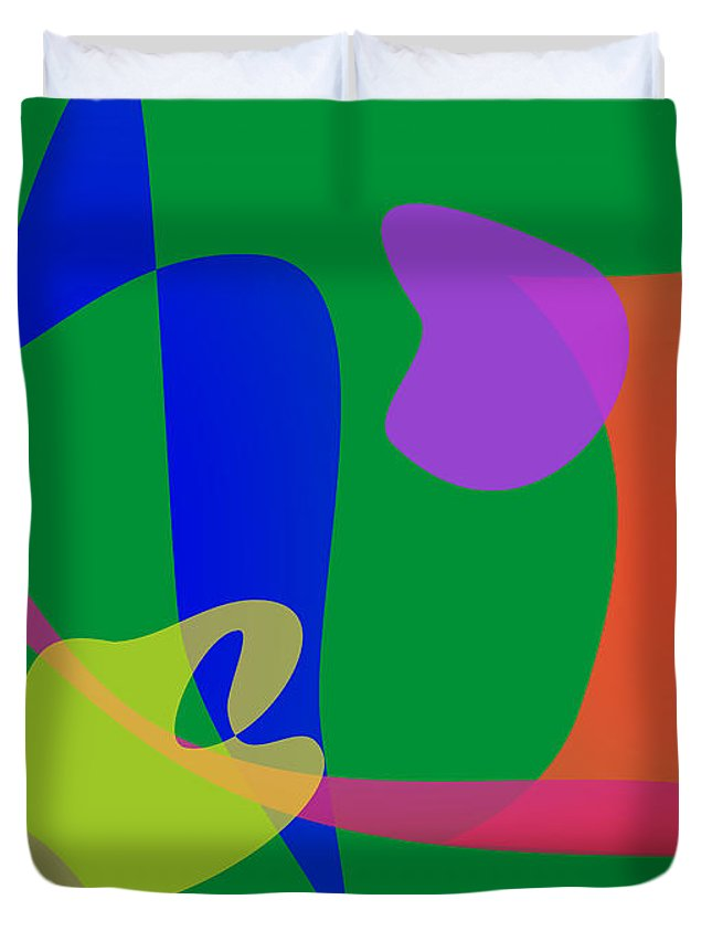 Sunday Afternoon Duvet Cover featuring the digital art Sunday Afternoon Jazz by Masaaki Kimura