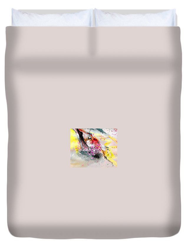 Pastel Painting Duvet Cover featuring the painting Sunday By The Tree by Miki De Goodaboom
