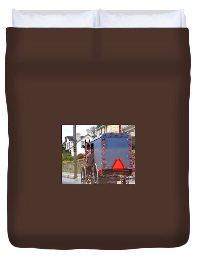 Amish Duvet Cover featuring the photograph Sunday Courting by Debbi Granruth