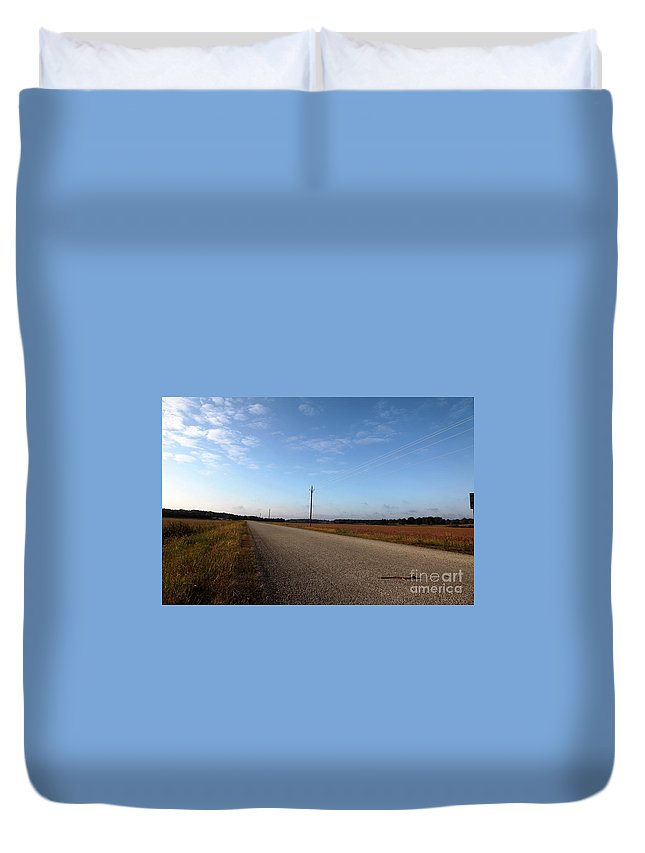 Roads Duvet Cover featuring the photograph Sunday Drive Series by Amanda Barcon