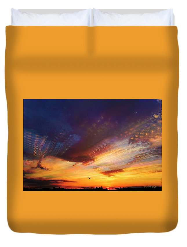 Morning Sky Duvet Cover featuring the photograph Sunday Morning Coming Down by Karen Slagle
