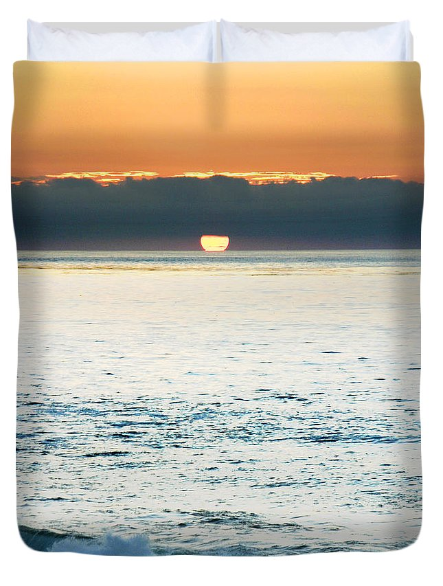 Sunset Duvet Cover featuring the photograph Sundown by Anthony Jones