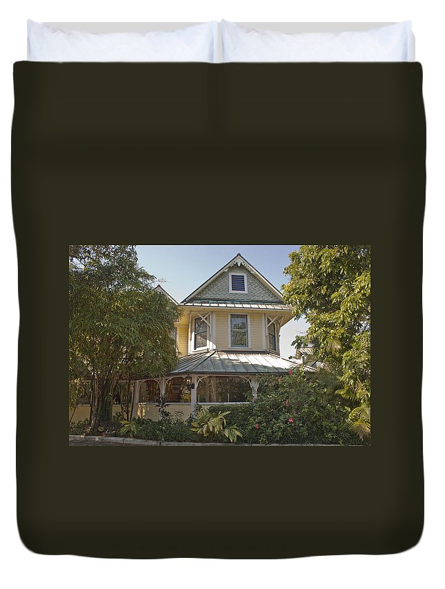 Sundy House Duvet Cover featuring the photograph Sundy House by Donna Walsh